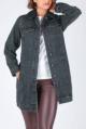 Object objpage l/s long jacket black denim